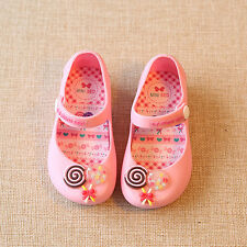 New Style Children Princess Girl's Kids Jelly Sandals Candy Sugar Shoes 3 Colors