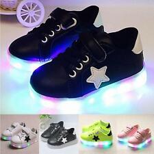 Popular LED Kids Boys Girls Shoes Light Up Children Trainers Sport Sneakers