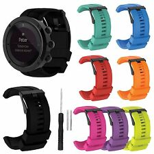 Silicone Rubber Wrist Band Strap + Tool for SUUNTO KAILASH 7R / KAILASH Watch