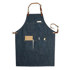Blue jeans apron designer coffee shop sleeveless apron home Denim work clothes