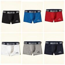 NWT Hollister Abercrombie Classic Trunk Boxers Briefs Grey Navy Red XS S M L XL