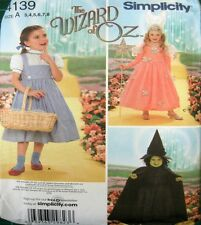 Simplicity Sewing Pattern 4139 Girls 3-8 Dorothy Witch Queen Wizard Oz Costume