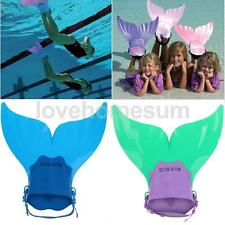 Mermaid Swim Fin Kids Girls Boys Diving Monofin Swimming Training Flippers