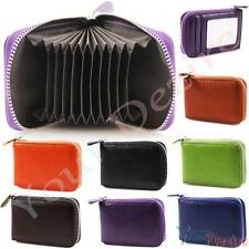 Ladies Womens Soft Leather Small Single Zip Coin Bag/Pouch/Wallet/Coin/Key Purse