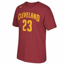 Cleveland Cavaliers Adidas NBA Lebron James #23 Player Number T-Shirt (Maroon)