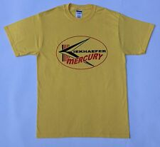 Kiekhaefer Mercury Vintage Style Outboard Motor Shirt Retro Nautical Yellow