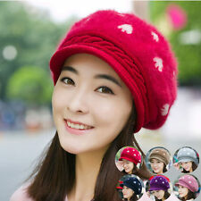 Women Lady Braided Winter Warm Baggy Cap Knit Oversized Slouch Crochet Ski Hat 4