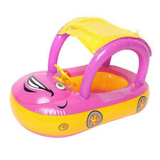 Inflatable Baby Kids Float Seat Boat Ring Car Sunshade Swim Pool Water Toy USA
