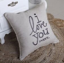 Pillow Cover I Love You More Throw Cushion Embroidered Pillow case Decorative