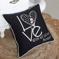 Pillow Cover Love Throw Cushion Embroidered Pillow case Decorative
