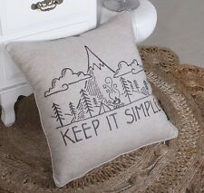 Pillow Cover Keep It Simple  Throw Cushion Embroidered Pillow case Decorative