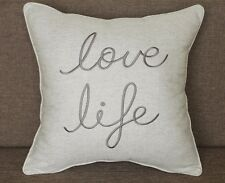 Pillow Cover Love Life Throw Cushion Embroidered Pillow case Decorative