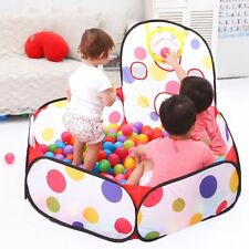 Portable Kids Baby Play Tent Playpen Hut Ball Pit Pool Foldable Outdoor Cubby