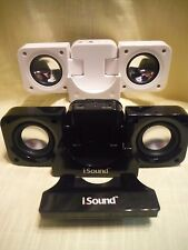 Mini Speaker System Foldable Choose DreamGear iSound Black or Unknown White