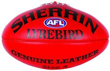 Sherrin Lyrebird Leather AFL Football Select From Red & Yellow & Sizes 3, 4 & 5