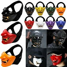 TPU Halloween Cosplay Costume Party Tactical Airsoft Half Face Mask Head Helmet