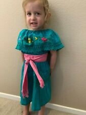 Mexican Girls Dress Lace Gypsy Assorted Colors Embroidered Peasant 6-12 Months