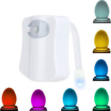 Toilet Night Light LED Sensor Motion Activated 8 Colors Changing
