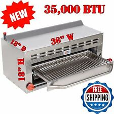 """Commercial 36"""" Salamander Infrared Broiler Cheese Melter-Gas Range/NO Wall Mount"""