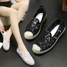 Outdoor Flat Shoes Casual Flat Leisure Hollow Breathable Mesh Tennis Shoes Women