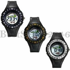 Mens LED Sports Electronic Digital Watch Multifunction Waterproof PVC Watches