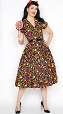 Bernie Dexter Kelly Candy 1950's Retro Vintage Valentine Swing Dress S-XL