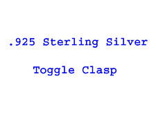 Solid  .925 Sterling Silver Toggle Clasp 11 , 13 or 15 mm Necklace Findings