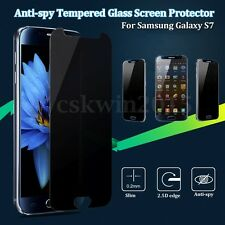 2/4pcs 9H Tempered Glass Screen Protector Anti-Spy Privacy For Samsung Galaxy S7