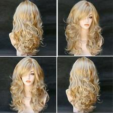 New Fashion Womens Long Wavy Curly Hair Full Wigs Girls Cosplay Party Lady Wig
