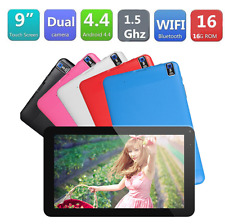 "9"" inch Android4.4 A33 Quad Core 512+ 8GB Dual Camera Wifi Tablet EU PC Black"