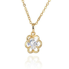 Ladies' fashion jewelry and beautiful flower gold plated pendant necklace