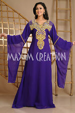 Evening Wear Party Gown Dubai Kaftan Dress With Fancy Hand Made Embroidery 3630