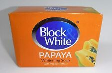 New BLOCK & WHITE PAPAYA Skin Whitening Soap 120g USA Seller Fast Shipping