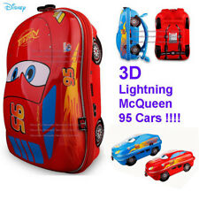 "Disney Pixar Cars 3 3D Lightning McQueen 95 Cars  13"" School Bag Backpack Kid"