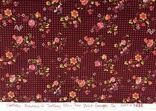 Chateau Prov. Jeffrey Marc  Small Flowers w/red dots Cotton Quilt Fabric Crafts