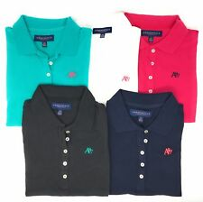 AEROPOSTALE WOMENS SOLID A87 POLO LOT OF 5 SET BUTTON PIQUE SCHOOL UNIFORM