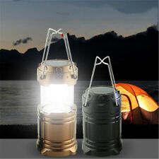 Rechargeable Hand Lamp Collapsible Solar Camping Hiking Lantern Tent Lights