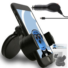Suction In Car Holder And Micro USB Charger For BlackBerry 8520 Curve, 9300 3G