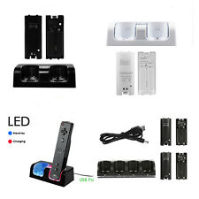 Remote Controller Charger Charging Dock + Rechargeable Battery for Nintendo Wii