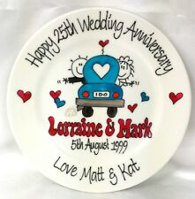 Wedding Anniversary or Engagement personalised Hand painted plate Car design