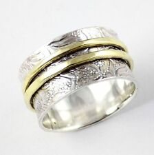 925 Silver Filigree Vintage Hammered Spinner Silver Ring With 925 Silver Stamp