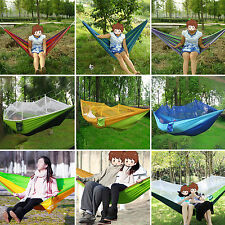 Portable Rope Outdoor Swing Fabric Camping Hanging Hammock Canvas Sleep Bed Net