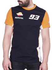 2017 Official Repsol Honda MotoGP Marc Marquez 93 Navy Orange White T-Shirt