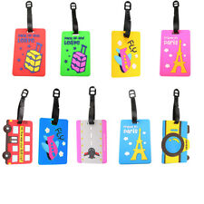 Cute PVC Name ID Tags Card Holder for Luggage Baggage Travel Suitcase Label