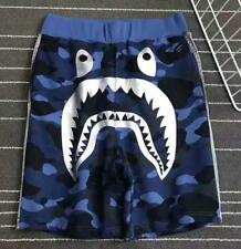 Fashion Mens Bape Shark Jaw Summer Pants A Bathing Ape Casual Blue shorts M-XL