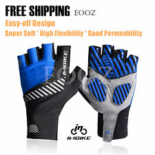 Bike Bicycle Half Finger Men Breathable Gloves Reflective Anti-Slip Gel Pad
