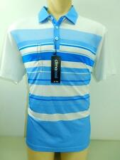 NWT $60 Adidas Men ClimaCool Performance Sport Blue Striped Polo Golf Shirt NEW!