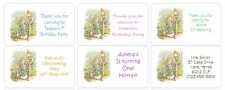 PERSONALISED STICKERS LABELS BABY SHOWER NAMING CEREMONY PETER RABBIT ADDRESS