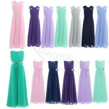 2017New Chiffon Girl Kid Pageant Dress Formal Dance Party Prom Dresses Size 4-14