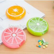7 Day Travel Compartment Lemon Pill Medicine Reserve Box Candy Container Case
